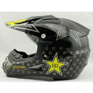 Atacado- Vcoros Rockstar capacete da motocicleta ATV sujeira bike downhill atravessar capacete da motocicleta casco motocross off capacetes de estrada