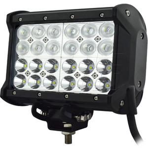 6.6 بوصة 72W LED شريط العمل الخفيف 4 الصفوف COMBO LIGHT من الطرق الوعرة UTE TRUCK شاحنة