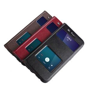 Noble Para OPPO R11 Caso Ultra-Fina Dura Tampa Do PC de Luxo Colorido Protetora Flip Window Caso De Couro Genuíno Para OPPO R11