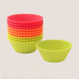 Оптовые - 6шт кекс лайнеры прессформы кекс круглый силиконовый чашка торт инструмент для выпечки выпечки выпечки кухонные гаджеты