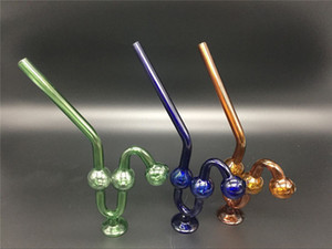 thick glass snake oil burner pipe thick colorful pyrex glass water pipe cheap hand smoking pipes curve oil burner bongs