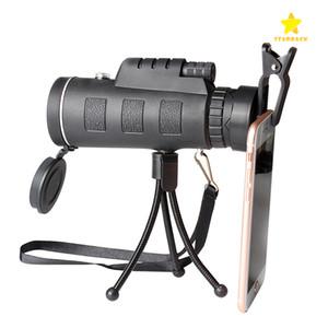 40x60 Mini trípode telescopio de visión nocturna Telescopio monocular Cámara de video con brújula Broche para teléfono