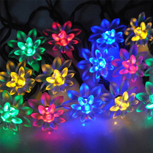 55.8ft Sıcak Ve Romantik Düğün Noel Dekoratif Güneş Çift Lotus Renkli Dize Işıkları Ayçiçeği lamba