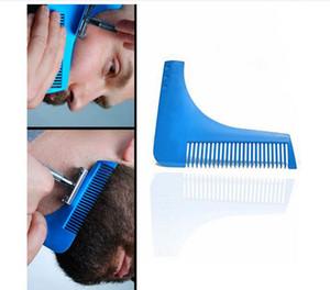 Herramientas caliente peine Barba Bro Shaping brocha de afeitar Hombre atractivo caballero barba recortada plantilla de corte de pelo de moldeo Plantilla de recorte de la barba de modelado