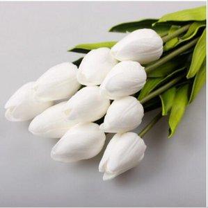 Lateks Laleler Yapay PU Çiçek Buket Gerçek Dokunmatik Çiçekler Ev Dekorasyon Düğün Çiçek Eko-FriendlyParty Malzemeleri 100pcs