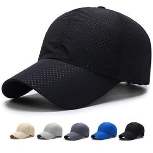 Venta al por mayor Hombres Mujeres 2017 Snapback de Verano de Secado Rápido Gorra de Béisbol Sombrero de Malla de Hombro Transpirable Sombreros Envío Gratis