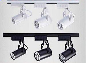 Luces de riel led 30 Ángulo negro / blanco Shell 6W 10W 14W 24W 36W Cálido / natural / frío blanco Led luces de punto de techo AC 85-265V