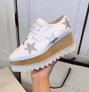 2018 yeni gelenler takozlar platform ayakkabı platformu tek ayakkabı deri tek ayakkabı kadın dantel yıldız rahat ayakkabı