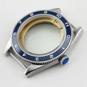 Cassa dell'orologio Debert 41mm con castone in ceramica misura Miyota 8205/8215, ETA 2836 DG2813 / 3804 Orologio da uomo Cassa in acciaio inossidabile con castone in ceramica P479