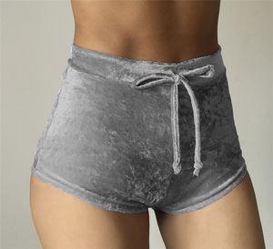 Mode Femmes Velours Élastique Shorts Casual Taille Haute 2017 Automne Hiver Sexy Élégant Skinny Shorts Nigh Club Porter Butin Shorts