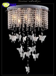 FUMAT Lüks Melek Modern Kristal Tavan Işık Oturma Odası Otel Koridor Koridor Salon Için Yüksek Kalite Lambalar LED Ampuller dahil