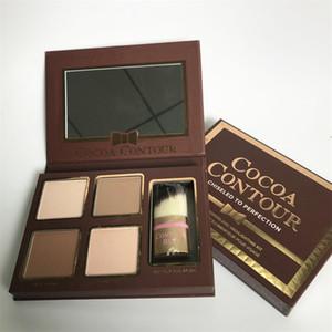 Toptan Marka COCOA Kontur Kiti Vurgulayıcılar Paleti Çıplak Kozmetik Yüz Kapatıcı Kontur Buki Fırça ile Makyaj Çikolata Göz Farı