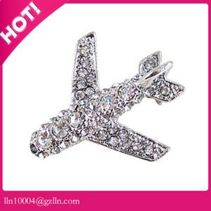 50 unids / lote envío gratis aleación de zinc venta caliente de alta calidad de encargo color broche rhinestone broche de vuelo pin