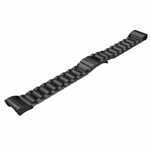 Fitbit 충전을위한 최신 패션 럭셔리 스틸 스타일 스마트 시계 밴드 Fitbit Charge2 스트랩을위한 2 개의 대체 금속 밴드