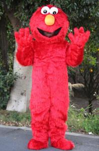 Elmo Mascot Costume 성인 사이즈 축제 파티 무료 파티 파티