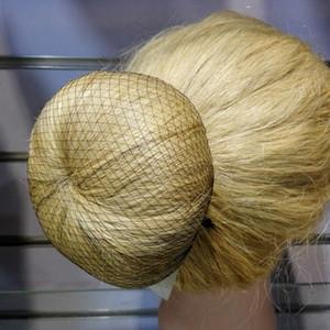 Оптовая продажа всей продажи 100шт сетка для волос 5мм нейлон балетная сетка для волос невидимая одноразовая сетка для волос 10 дюймов пять цветов смешивания