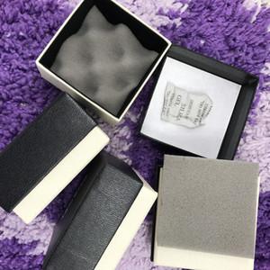 12 pçs / lote marca de moda de alta qualidade caixa de presente de papel preto para brincos colares pingentes carregando casos com espuma de onda preta
