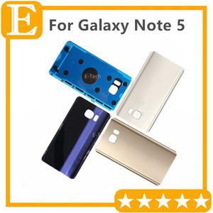 OEM Battery Door Back Cover Glass Housing + Adhesive Sticker For Samsung Galaxy Note 5 N9200 N920V N920F VS N920T N920P 60pcs Lot DHL