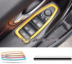 Алюминиевый автомобиль auto power Sport window Lift button украшения кольцо стикер для нового BMW 1/3 серии