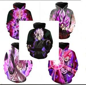 La más nueva moda Dragon Ball Z Hoodies 3D Impreso Pullovers Sportswear Sudaderas Dragonball Súper Saiyan 4 Son Goku Black Zamasu abrigo Outfit