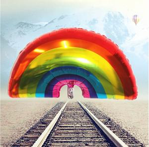 Grandi dimensioni arcobaleno palloncini 90 * 58 CM FOIL baloes arcobaleno caldo palle di elio decorazioni festa di compleanno da sposa globos