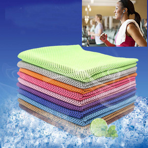 Magic Cold Towel Ejercicio Fitness Sweat Summer Ice Towel Deportes al aire libre Ice Cool Towel Hipotermia Cooling Opp Bag Pack 90 * 30cm WX-T07