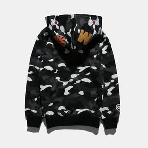Sportwear Coat Jogger Chándal Pullover Fleece Sudadera Crewneck Bird OVO Drake Black Hip Hop stusay Sudadera con capucha Hombre Tiburón boca Luminous