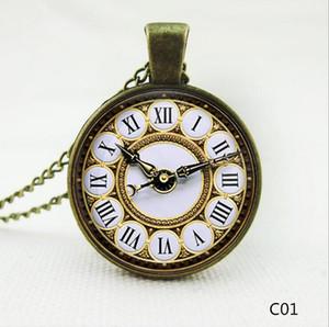 США/Великобритания флаг часы кулон ожерелья Шарм цепи время gem стекло заявление старинные из нержавеющей стали стекло кабошон цепи ювелирные изделия свободный корабль DHL