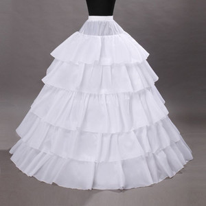 5 Hoops 페티코트 Crinoline 공 가운 웨딩 파티 파티 드레스 Petticoat Underskirts Slips Bridal Accessories110-120cm Diameter