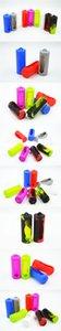 26650 배터리 커버 박스 실리콘 보호 케이스 Ecigs vape 부분에 대 한 다채로운 부드러운 고무 피부 보호자 홀더 26650 li-ion Batteries Mod