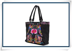 2016 bolso del diseñador del bolso de la bolsa de bordado de Yunnan bolso ocasional de la lona del bolso de las señoras bolso tradicional chino