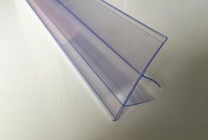 중간 보드 U 가격 선반 클립 나무 배너 선반 홀더 채널 태그 레이블 카드 화자 데이터 프레임 스트립 13-17mm 두꺼운 레이블 CTNRQ