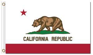 Hot venda America state national official flags com dois ilhós 100D poliéster República da califórnia bandeiras baratas