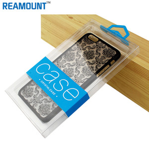 Universal Retail DIY Customize Company LOGO Hard PVC Transparent Plastic Packaging Box for iphone 7 7 plus Phone Case with Inner Tray