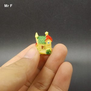 Small Villa House Miniature Resin Craft Ornament Toy Kid Micro Landscape Teaching Aids Educational Decoration Accessories