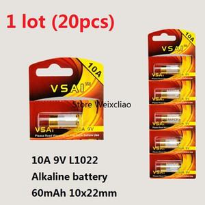 20pcs 1 lot 10A 9V 10A9V 9V10A L1022 pile alcaline sèche Piles 9 Volts remplacent la carte A23L VSAI Livraison Gratuite