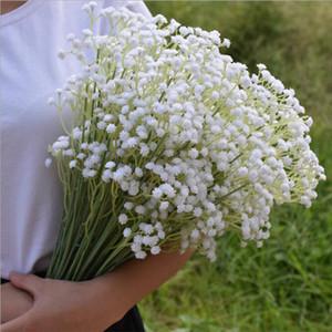 60 cm Artificial Falso Flores De Seda Gypsophila Babys Breath Plant Casa Decorativa Flor Decoração De Casamento 3 Cor Branco Bege Roxo