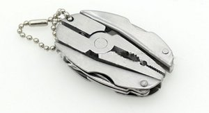 Haute Qualité Portable Multi Fonction Pliant Poche Outils Pince Couteau Keychain Tournevis multi-usages Combinaison Pinces LLFA