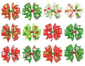 Horquillas para el cabello arco niñas Nuevo Navidad los niños del estilo de pelo Accesorio de árboles de navidad muñeco de nieve con encanto pernos de pelo de las pinzas de arco niños C1587