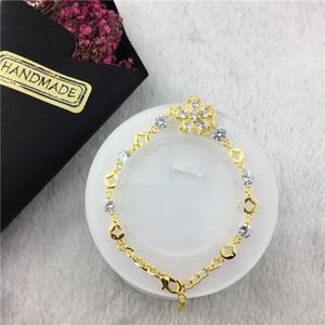 Pulseira cadeia de alta qualidade Charme Graça Cristal Flor Diamonds engraxar os inoxidável vestido de aço Pulseira festa holofotes senhora transporte livre