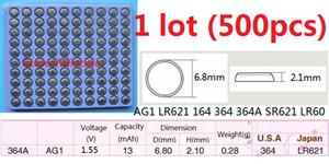500 قطع 1 وحدة AG1 LR621 164 364 364A SR621 LR60 1.55 فولت بطاريات زر خلية البطارية القلوية عملة صينية شحن مجاني