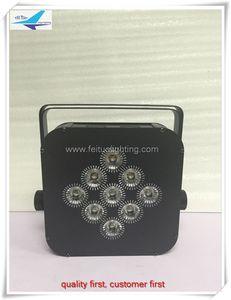 8pcs / lot HOT SALE 9x18w rgbwa uv 6in1 무선 배터리 구동 uplighting dj 무대 플랫 파