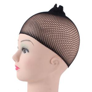 1 Pcs / Lot Invisible Nylon Cheveux Filets Avec Élastique Nouvelle Mode Cool Mesh Caps Pour Perruques Noir Spandex Cap Taille Contrôle Tissage Cap
