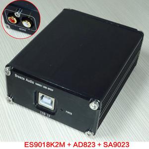 Freeshipping neuer Brisen-Audio-ESS ES9018K2M + AD823 + SA9023 USB-DAC-Decoder-externer Tonkartenkopfhörerverstärker über ES9023 DAC hinaus
