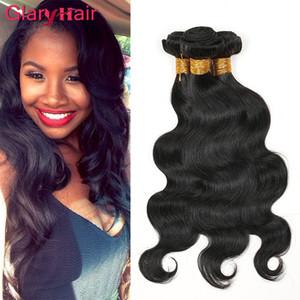 Glary Peruvian Hair Body Wave teje paquetes de cabello virgen brasileño de la mejor venta 6pcs Extensiones de cabello humano Remy sin procesar Indian de Malasia