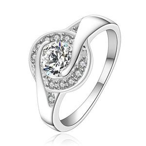 Бесплатная доставка инкрустация кошачьи глаза стерлингового серебра ювелирные изделия кольцо SR157, новый белый драгоценный камень 925 серебряный палец кольца обручальные кольца