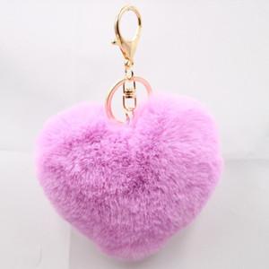 Gold Rabbit Fur Ball Keychain fluffy keychain fur pom pom llaveros portachiavi porte clef Key Ring Key Chain