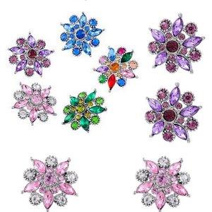 Nouveau Noosa / morceaux boutons mélangé couleur ensemble tarière fleur hollandaise boucle bricolage bijoux boutons C026