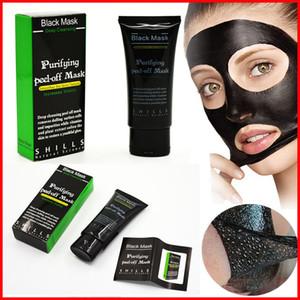 Alta qualità SHILLS pulizia profonda maschera nera detergente per i pori 50 ml purificante maschera peel-off rimozione di comedone maschera facciale cura del viso DHL libero