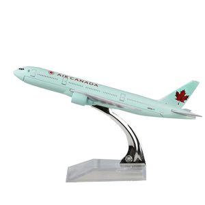 طيران كندا نموذج طائرة بوينغ 777 16 سنتيمتر سبيكة معدنية نموذج تذكارية نموذج جمع الطائرات لعبة الطائرات هدايا عيد الميلاد هدية